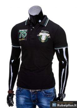 """Vyriški marškinėliai. Juodi polo marškinėliai vyrams """"Glory"""" - Rubaiplius.lt"""