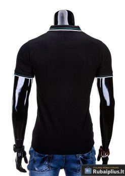 Vyriški marškinėliai. Juodi polo marškinėliai vyrams