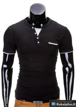 Juodos spalvos vyriški marškinėliai vyrams internetu pigiau Gizmo S634