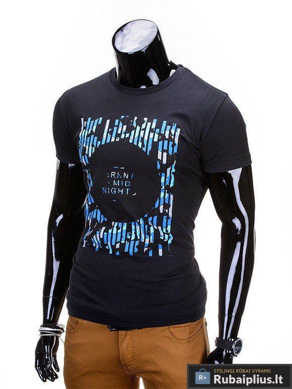 """Vyriški marškinėliai + Juodi marškinėliai vyrams """"Mid nights"""" - Rubaiplius.lt"""