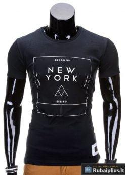 Juodos spalvos vyriški marškinėliai vyrams internetu pigiau Oracul S688