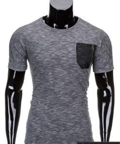 Juodos spalvos vyriški marškinėliai vyrams internetu pigiau Snake S702