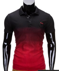 Juodos spalvos vyriški polo marškinėliai vyrams internetu pigiau Yan S693