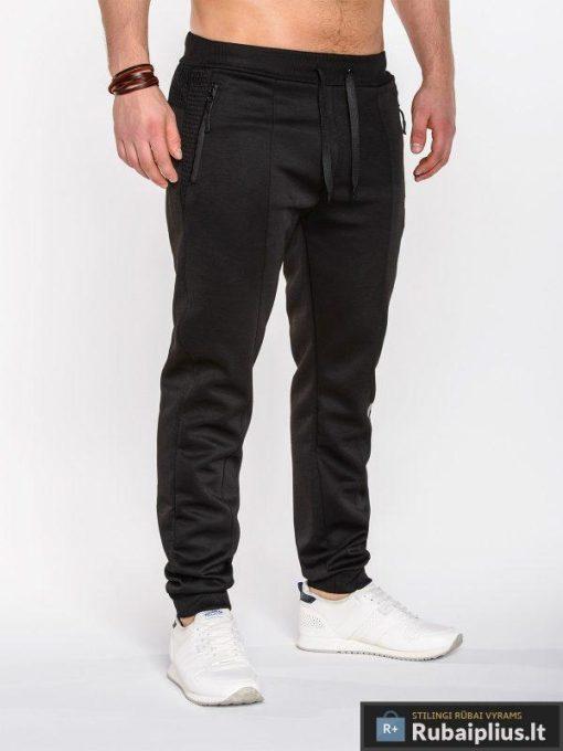 """Kelnės vyrams + Juodos sportinės vyriškos kelnės """"X84"""" - Rubaiplius.lt"""
