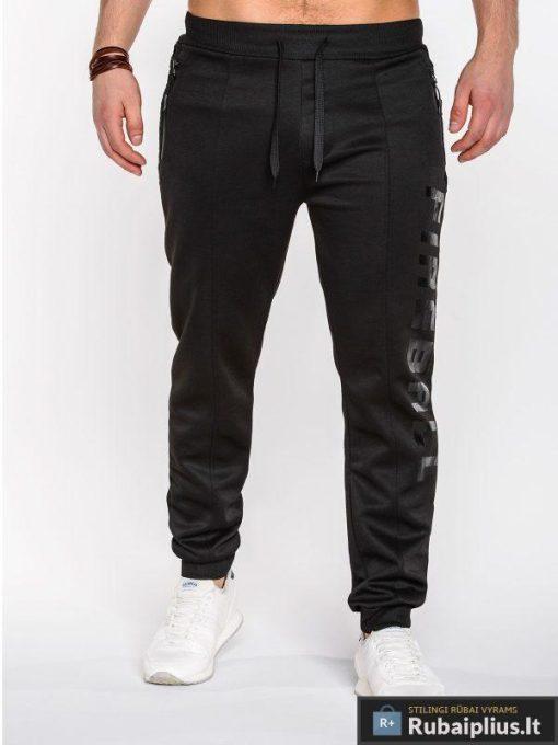 Juodos vyriškos sportinės kelnės vyrams internetu pigiau Wang P507