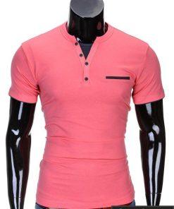 Koralo spalvos vyriški marškinėliai vyrams internetu pigiau Gizmo S634