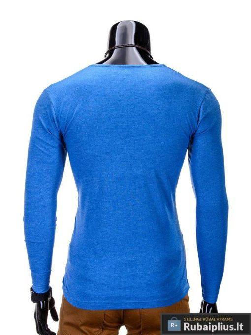"""Marškinėliai vyrams. Mėlyni vyriški marškinėliai """"Chief"""" - Rubaiplius"""