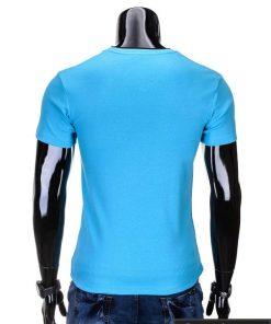 """Marškinėliai vyrams. Mėlyni vyriški marškinėliai """"Rock"""" - Rubaiplius.lt"""