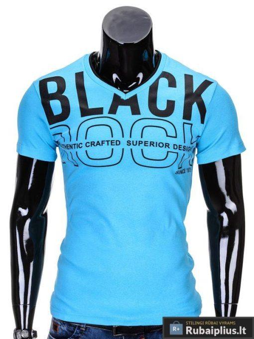 Mėlyni vyriški marškinėliai vyrams internetu pigiau Rock S640