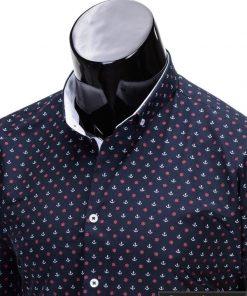 Tamsiai mėlyni vyriški marškiniai vyrams internetu pigiau Inkaras K314-2