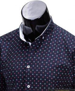 Marškiniai vyrams. Stilingi mėlyni vyriški marškiniai