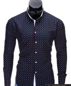"""Marškiniai vyrams. Stilingi mėlyni vyriški marškiniai """"Inkaras"""" - Rubaiplius.lt"""