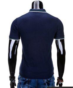 Vyriški marškinėliai. Mėlyni polo marškinėliai vyrams