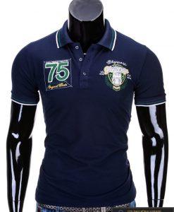 """Vyriški marškinėliai. Mėlyni polo marškinėliai vyrams """"Glory"""" - Rubaiplius.lt"""