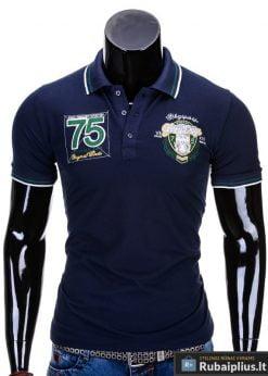 Mėlyni vyriški polo marškinėliai vyrams internetu pigiau Glory S621
