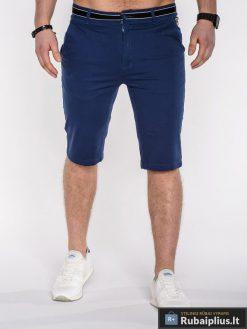 """Šortai vyrams. Mėlynos spalvos vyriški šortai """"Armin"""" - Rubaiplius.lt"""