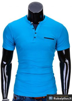 Mėlynos spalvos vyriški marškinėliai vyrams internetu pigiau Gizmo S634