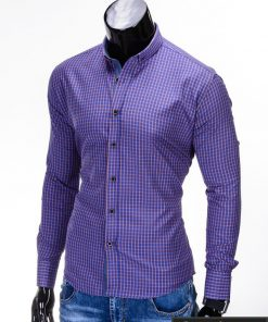 Stilingi mėlynos spalvos vyriški marškiniai vyrams
