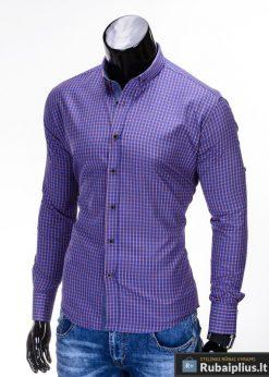 """Stilingi mėlynos spalvos vyriški marškiniai vyrams """"Morton"""" - Rubaiplius.lt"""