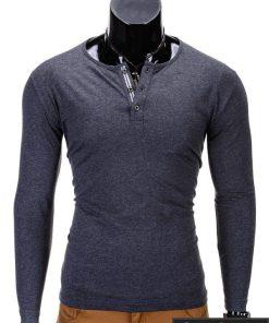 Marškinėliai vyrams. Tamsiai pilki vyriški marškinėliai