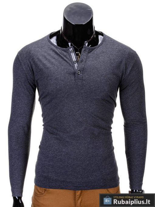 """Marškinėliai vyrams. Tamsiai pilki vyriški marškinėliai """"Chief"""" - Rubaiplius.lt"""
