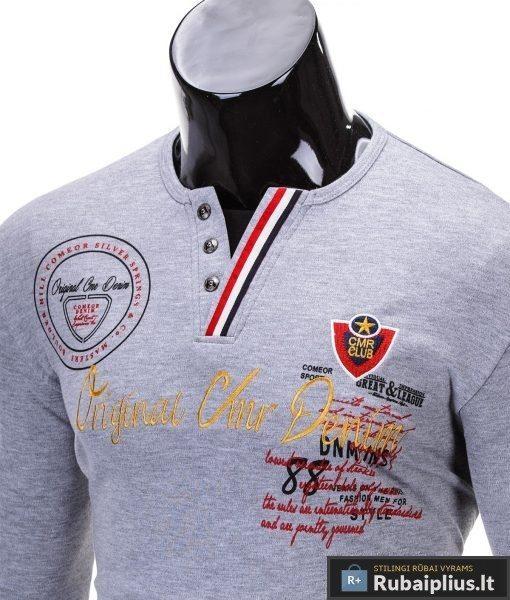 """Marškinėliai vyrams. Pilki vyriški marškinėliai """"Club"""" - Rubaiplius.lt"""