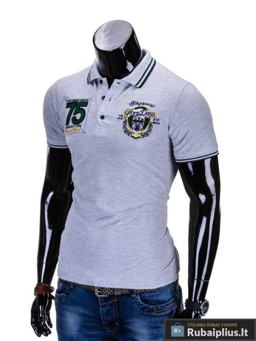 """Vyriški marškinėliai. Pilki polo marškinėliai vyrams """"Glory"""" - Rubaiplius.lt"""