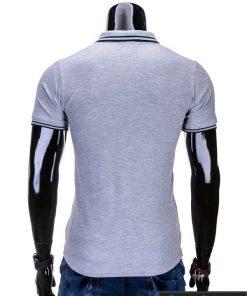 Vyriški marškinėliai. Pilki polo marškinėliai vyrams