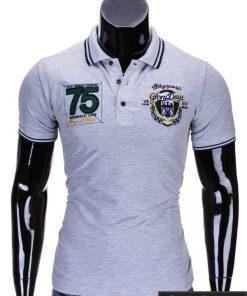 Pilki vyriški polo marškinėliai vyrams internetu pigiau Glory S621