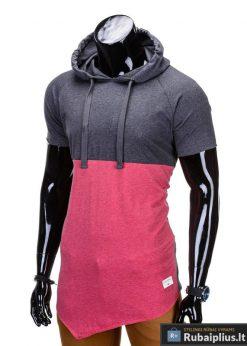 """Vyriški marškinėliai + Pilki-raudoni marškinėliai vyrams """"Baz"""" - Rubaiplius.lt"""