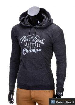 """Sportiško stiliaus pilkas vyriškas džemperis vyrams """"Atlet"""" - Rubaiplius.lt"""