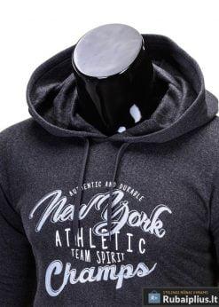Sportiško stiliaus pilkas vyriškas džemperis vyrams