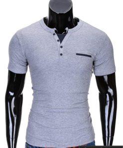 Pilkos spalvos vyriški marškinėliai vyrams internetu pigiau Gizmo S634