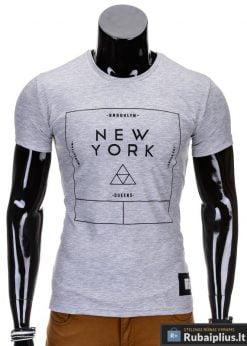 Pilkos spalvos vyriški marškinėliai vyrams internetu pigiau Oracul S688