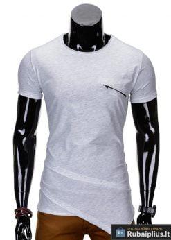 Pilkos spalvos vyriški marškinėliai vyrams internetu pigiau Vilton S696