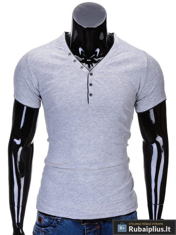 """Vyriški marškinėliai + Pilkos spalvos marškinėliai vyrams """"Vip""""-Rubaiplius.lt"""