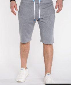 Pilkos spalvos vyriški šortai vyrams internetu pigiau Kiko P512