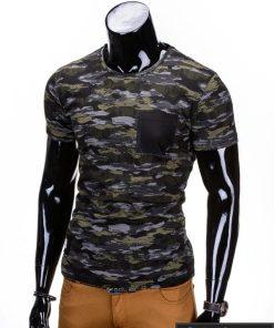 """Kamufliažiniai pilkai-žali vyriški marškinėliai vyrams """"Gift"""" - Rubaiplius.lt"""
