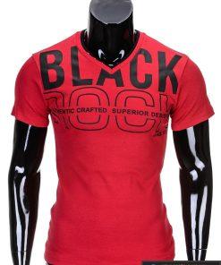 Raudoni vyriški marškinėliai internetu pigiau Rock S640
