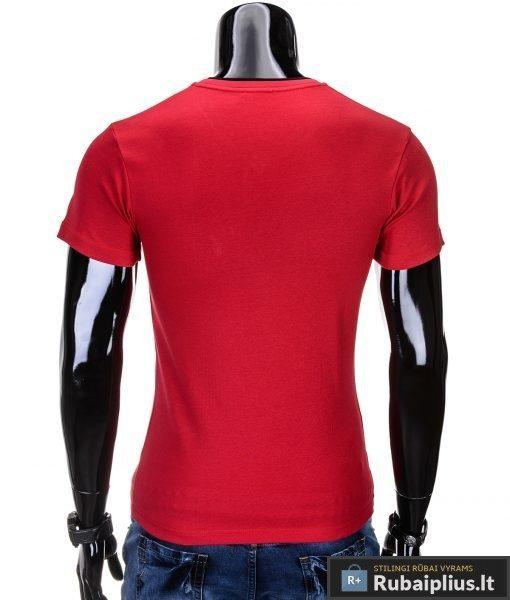 """Marškinėliai vyrams. Raudoni vyriški marškinėliai """"Rock"""" - Rubaiplius.lt"""