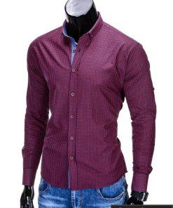 Stilingi raudoni vyriški marškiniai vyrams
