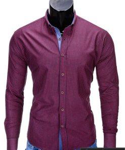 """Stilingi raudoni vyriški marškiniai vyrams """"Morton"""" - Rubaiplius.lt"""