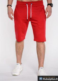 Raudonos spalvos vyriški šortai vyrams internetu pigiau Kiko P512