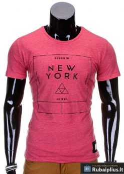 Raudonos spalvos vyriški marškinėliai vyrams internetu pigiau Oracul S688