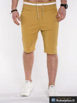 """Vyriški šortai + Šviesiai rudos spalvos vyriški bridžai """"Som"""" - Rubaiplius.lt"""