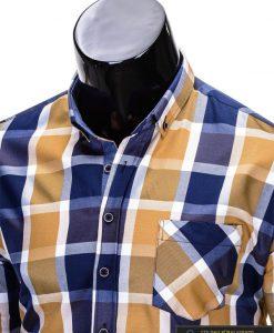 Rusvos spalvos languoti vyriški marškiniai vyrams