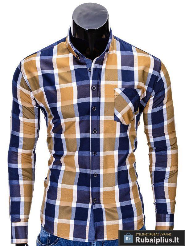 """Rusvos spalvos languoti vyriški marškiniai vyrams """"Greg"""" - Rubaiplius.lt"""