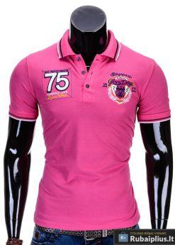 Ružavi vyriški polo marškinėliai vyrams internetu pigiau Glory S621