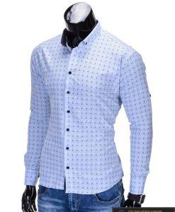 """Marškiniai vyrams. Stilingi š.mėlyni vyriški marškiniai """"Inkaras""""-Rubaiplius.lt"""