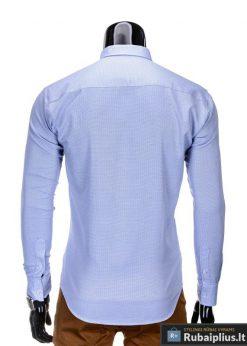 Marškiniai vyrams. Stilingi š.mėlyni vyriški marškiniai